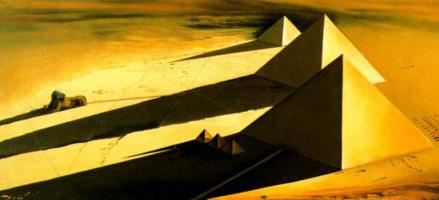 Сальвадор Дали. Пирамиды и сфинкс в Гизе