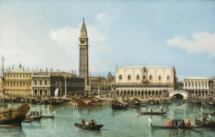 Bernardo Bellotto. Like the Cathedral of San Marco. Venice