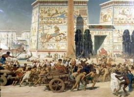 Edward John Poynter. Parts carts from Israel in Egypt