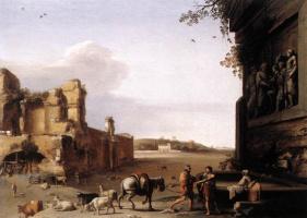 Корнелис ван Пуленбург. Руины Древнего Рима