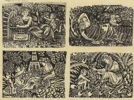 Ксилограф из печатни Эстивиль в Барселоне. Четыре времени года