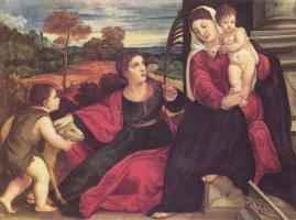 Тициан Вечеллио. Мадонна со св. Агнессой и св. Иоанном Крестителем