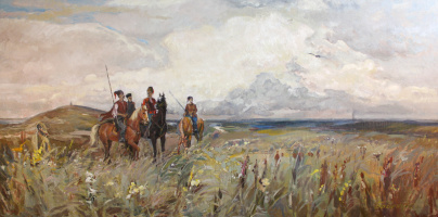 Victor Vladimirovich Babentsov. Cossacks in the field