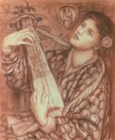 Данте Габриэль Россетти. Рождественская песнь (рисунок)