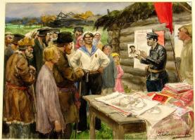 Иван Алексеевич Владимиров. Революционные акварели