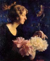 Маргарита Стубер Пирсон. Женщина с цветами