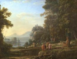 Клод Лоррен. Пейзаж с Аполлоном и Марсием