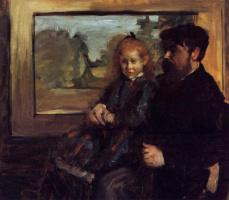 Edgar Degas. Henri Ruard and his daughter Helen