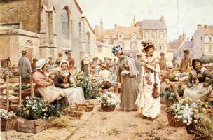 Альфред Гленденинг. Цветочный рынок