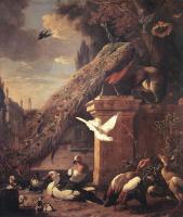 Мельхиор де Хондекутер. Павлины и утки