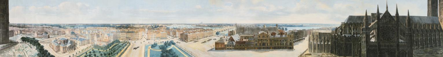 Пьер Прево. Панорамный вид Лондона из башни св. Маргариты в Вестминстере