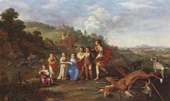 Корнелис ван Пуленбург. Дети Фридриха 5 Курфюрста по Пфальц и король Богемии