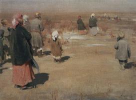 Abram Arkhipov. Seeing the procession