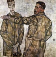 Эгон Шиле. Портрет Генриха Бенша и его сына Отто