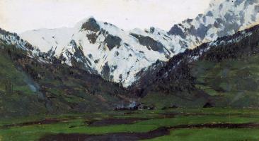 Исаак Ильич Левитан. В Альпах весной