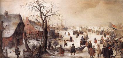 Хендрик Аверкамп. Зимой на канале