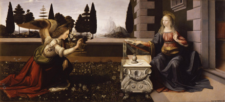 Leonardo da Vinci. The Annunciation