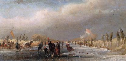Йоханнес Тавенраат. Ледовый вид с санями