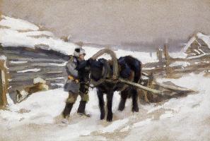 Алексей Степанович Степанов. В сельской местности в зимнее время