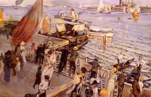 Этторе Тито. Большой канал, Венеция