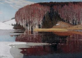 Wilhelm Purwit. The spring flood