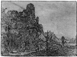 Херкюлес Питерс Сегерс. Отвесные скалы над речной долиной