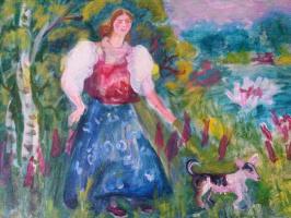 Варвара Федоровна Пирогова. На прогулке