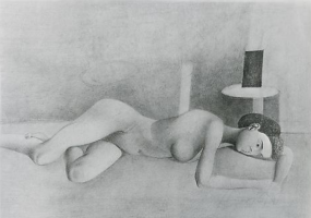 Reclining Nude (portrait of Juliet browner)