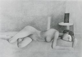 Лежащая обнаженная (портрет Джульетты Браунер)