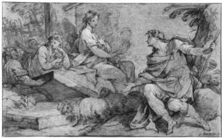 Шарль-Жозеф Натуар. Иаков и Рахиль у колодца