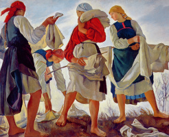 Zinaida Serebryakova. The bleaching of the canvas