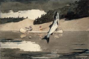 Уинслоу Хомер. Рыбалка. Озеро Сент-Джон, провинция Квебек