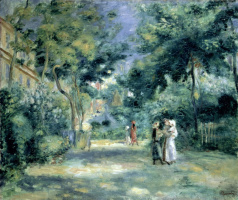 Figures in the garden