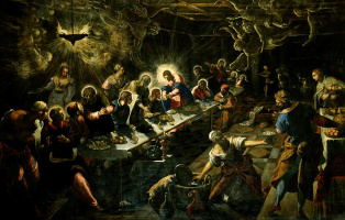 Jacopo (Robusti) Tintoretto. Last supper