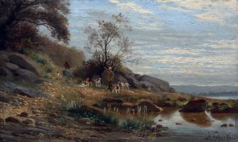 Hound hunting. 1880s
