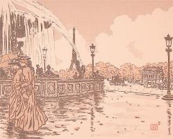 Анри (Henri) Ривьер (Rivière). Площадь Согласия (De la place de la Concorde)