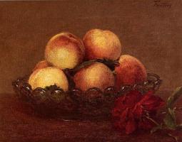 Анри Фантен-Латур. Персики и роза