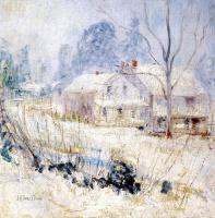 Джон Генри Твахтман. Сельский домик зимой