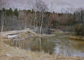 Апрель на речке Воре.