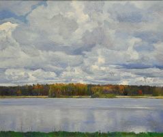 Олег Борисович Захаров. Okhotino. Clouds over the river