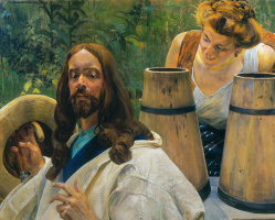 Jacek Malchevsky. Christ and the Samaritan woman 1
