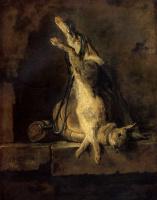 Жан Батист Симеон Шарден. Мертвый кролик и охотничьи принадлежности