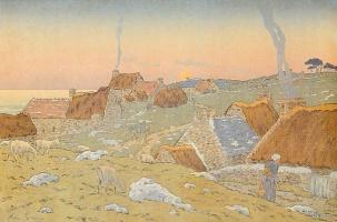 Анри (Henri) Ривьер (Rivière). Восход луны (Le Lever de Lune)