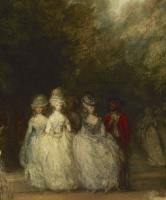 Thomas Gainsborough. A walk in St. James's Park. Fragment III