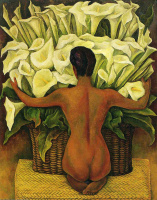Diego Maria Rivera. The girl in basket with flowers