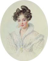 Петр Федорович Соколов. Портрет С.А.Урусовой. 1827