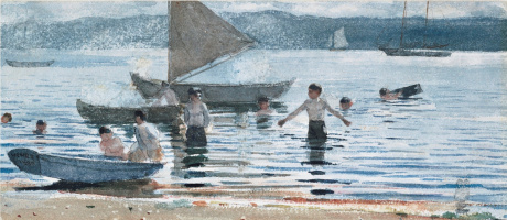Winslow Homer. Bathing boys