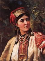 Константин Егорович Маковский. Девушка в национальном костюме