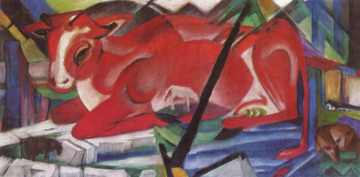 Franz Marc. Universal cow