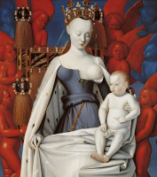 Жан Фуке. Мадонна с Младенцем. Створка Диптиха из Мелена